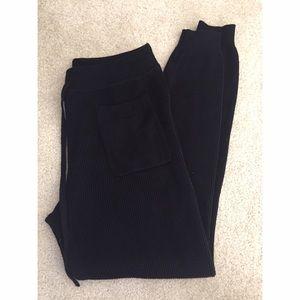 Zara Pants - Zara Knit Ribbed Black Joggers