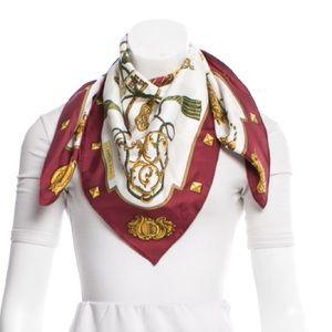 Hermes Accessories - Authentic HERMÈS Les Clès Silk Scarf