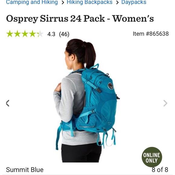 Women s Osprey Sirrus 24 pack. Summit Blue. M 58ab51c09c6fcff6291b47f1 19c64d1aced86