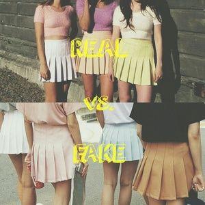 REAL vs. FAKE || American Apparel Tennis Skirt