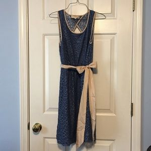 Altar' State blue and tan dress