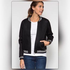 The NEW Boutique Jackets & Blazers - Black Mesh Bomber Jacket