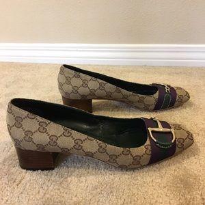 Gucci Shoes - Authentic GUCCI monogram horsebit flats