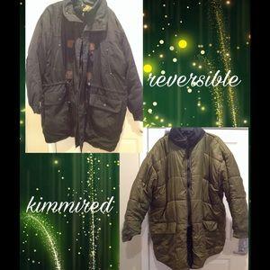 Mens Super Heavy & Warm Reversible Coat ~ Untag 3X