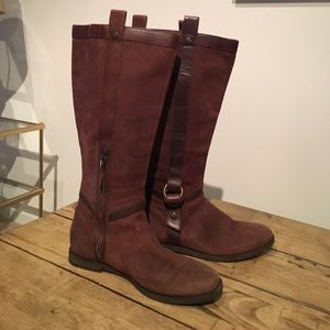 Cole Hann Nike Air Brown Suede Boots