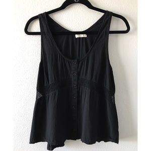 Knot sisters black lace tank