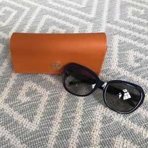 Navy Tory Burch Sunglasses