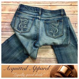 Seven7 Denim - [Seven7] Brand Jeans Embroidered Pocket Bootcut
