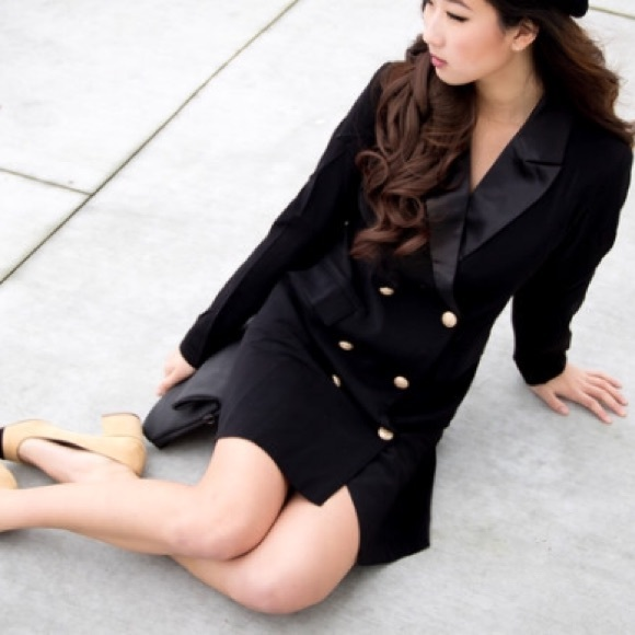 MakeMeChic Dresses - Blazer dress