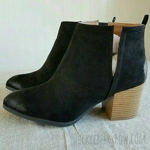 J Adams Shoes - Women's Western Ankle Booties. Black, Size 10