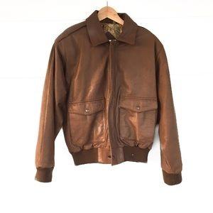 Preston & York Jackets & Blazers - Preston and York brown leather bomber jacket