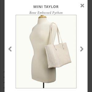GiGi New York Handbags - GiGi NY Mini Taylor Bone Embossed Python