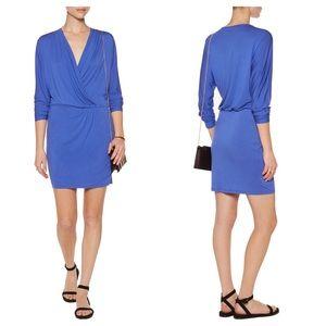 Haute Hippie Dresses & Skirts - Haute Hippie Ruche-Side Mini Wrap Dress Cobalt L