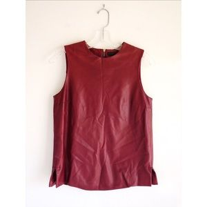 The Row Tops - The Row Burgundy Leather Tank size 0