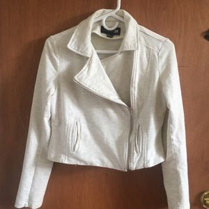 CREAM blazer / jacket with zipper & button on