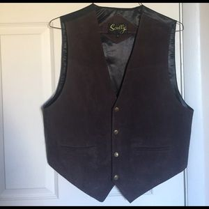 Scully Other - Men's Dark Brown Leather Vest