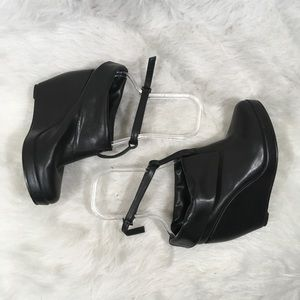 Deena & Ozzy Shoes - Deena And Ozzy Black Leather Ankle Strap Booties