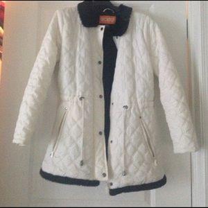Sporto cream quilted coat
