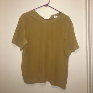 Oscar de la Renta expressions silk blouse shirt