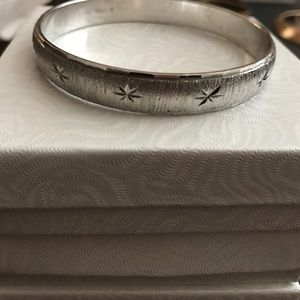 Monet Jewelry - Vintage Monet brushed Silver plate bracelet