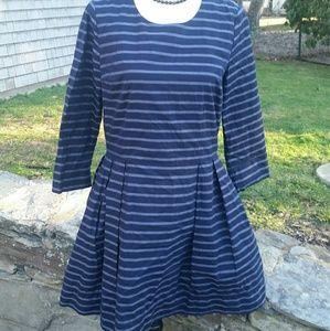 3x1 Dresses & Skirts - Gap Oxford stripe Fit and Flare dress