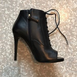 Tabitha Simmons Shoes - Tabitha Simmons pace leather peep-toe ankle boots