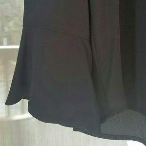 Pleione Tops - Black bell sleeve blouse