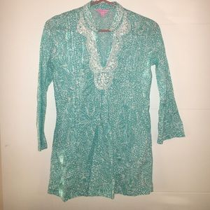 Lilly Pulitzer Teal Tunic 