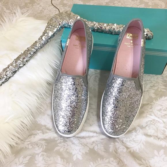 4fadd0402 kate spade Shoes | Hp Keds Silver Glitter Triple Decker | Poshmark