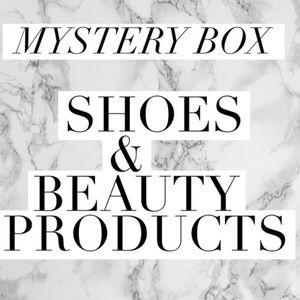 Mystery box of shoes and beauty products!