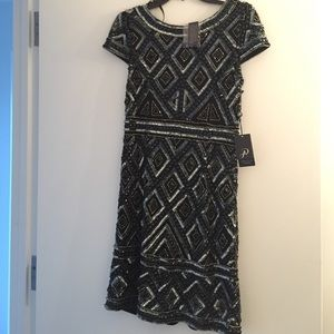 Black sequin cocktail dress (brand new)