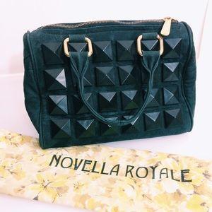 Novella Royale Handbags - Novella Royale Studded Leather Black Bag