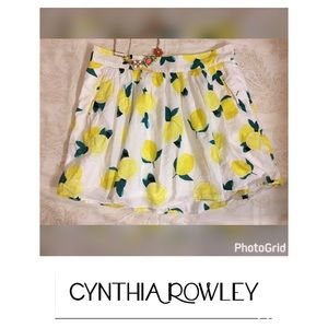 Cynthia Rowley Dresses & Skirts - Cynthia Rowley Lemon 🍋 Drop Full Skirt Size 12