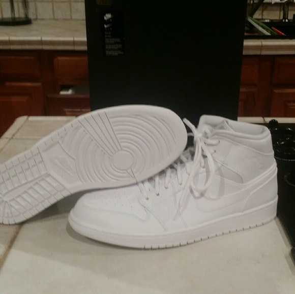 online store de1aa 13960 NIKE Air Jordan 1 triple white size 12 NWT