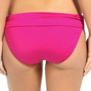 Kenneth Cole Solid Hipster Brief Swimsuit Pink XL