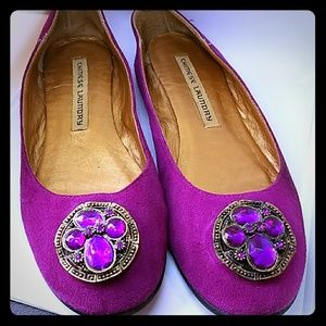 Shoes - Chinese Laundry purple suede flats 6 💖Host Pick!