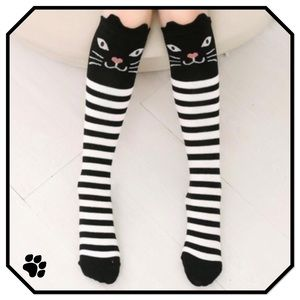 Boutique Other - Girls Kitty Tube Socks