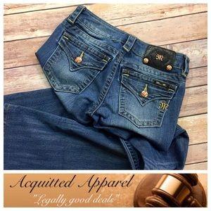 "Miss Me Denim - [Miss Me] Copper Button Boot Jeans 32"" inseam"