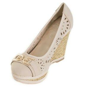 Tory K  Shoes - Women Wedge Espadrilles, HW-1674, Beige
