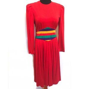 Vintage Dresses & Skirts - Vintage 80's Rainbow Bright Dress