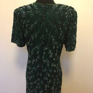 Vintage Dresses - Vintage 100% silk and sequins dress