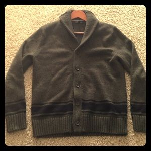 Mens Wool Knit Cardigan