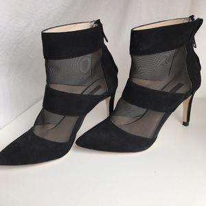 Zara black heels with mesh