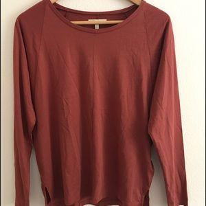 Madewell cotton 3/4 sleeve top
