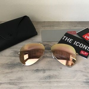 Ray-Ban Accessories - 100% AUTHENTIC ROSE GOLD RAY BAN AVIATOR