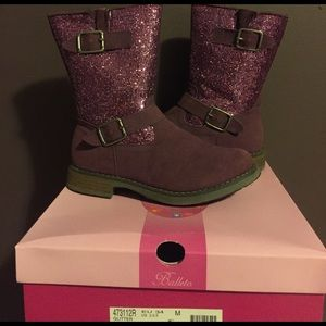 Jumping Jacks Other - Purple glitter boots
