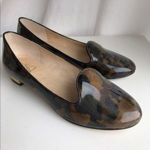 Camouflage patterned flats by Joan and David
