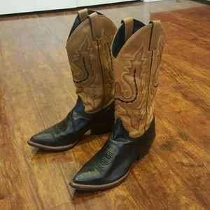 Justin Boots Shoes - 😮 Justin Leather Cowgirl Boots