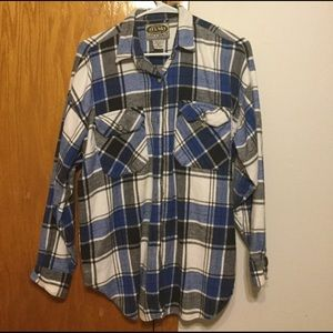 Blue/white Flannel