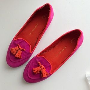 Magenta loafers